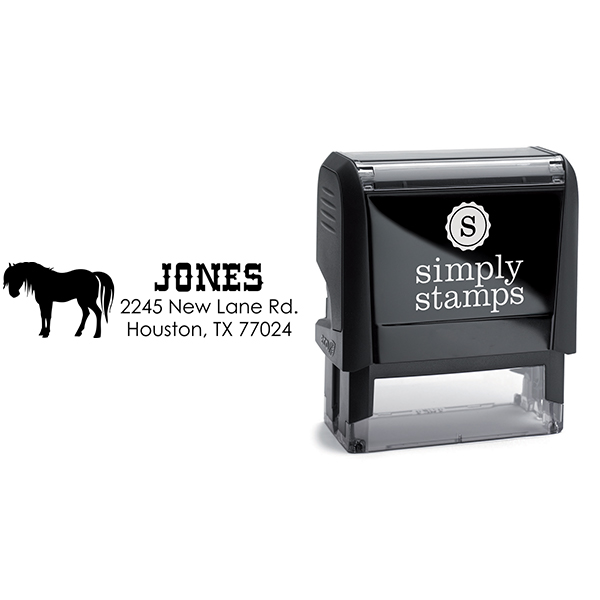 Jones Horse Address Stamp Body and Design