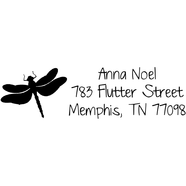 dragonfly address stamp