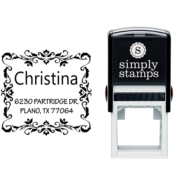 Partridge Square Address Stamp Body and Design