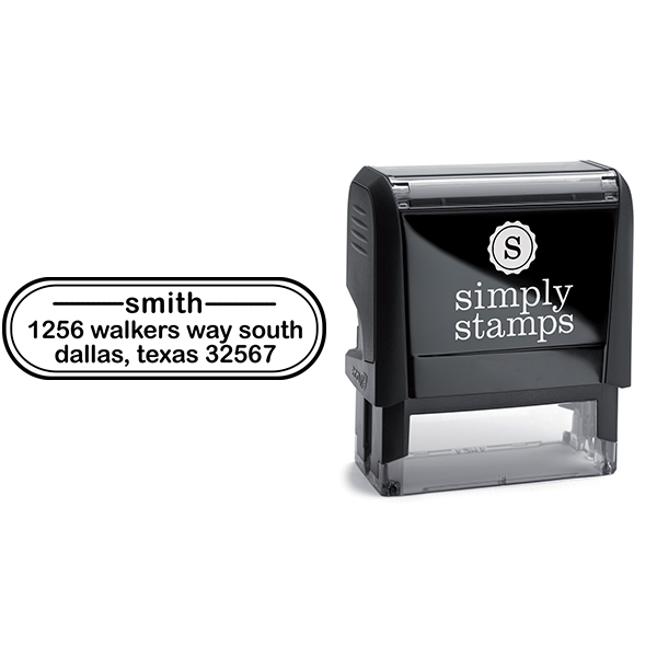 Smith Oval Address Stamp Body and Design