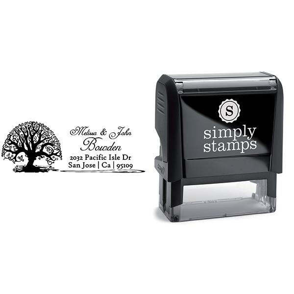 Bowden Curve Tree Address Stamp Body and Design