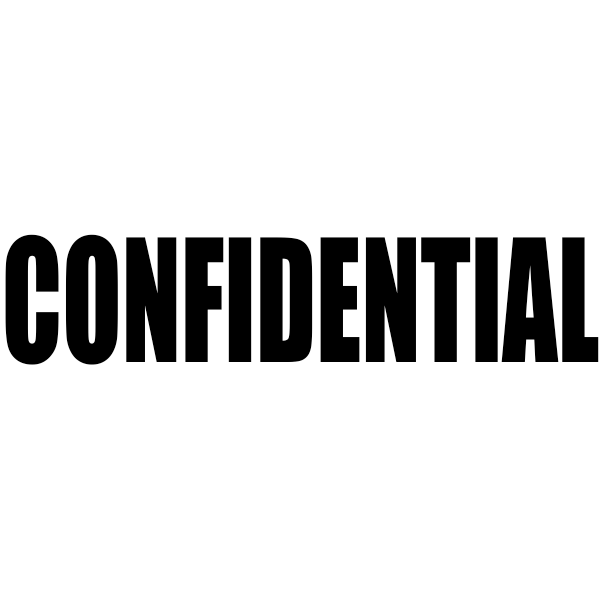 CONFIDENTIAL Bold Letter Stock Stamp