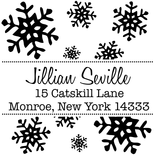 Holiday Snowflake return address stamp