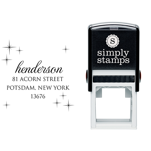 Henderson Twilight Address Stamp Body and Design