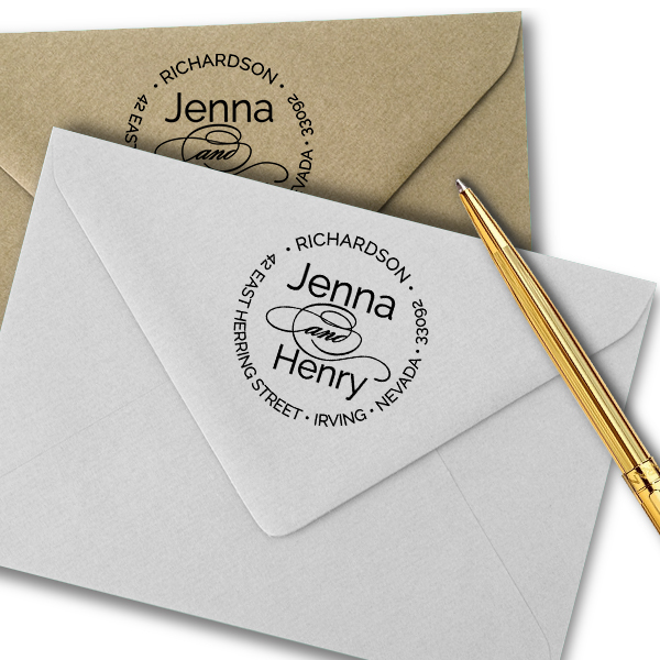 Calligraphy Deco And Return Address Stamp Simply Stamps