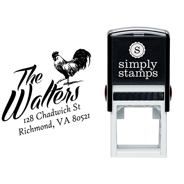 Country Rooster Farm Return Address Stamp Body and Design