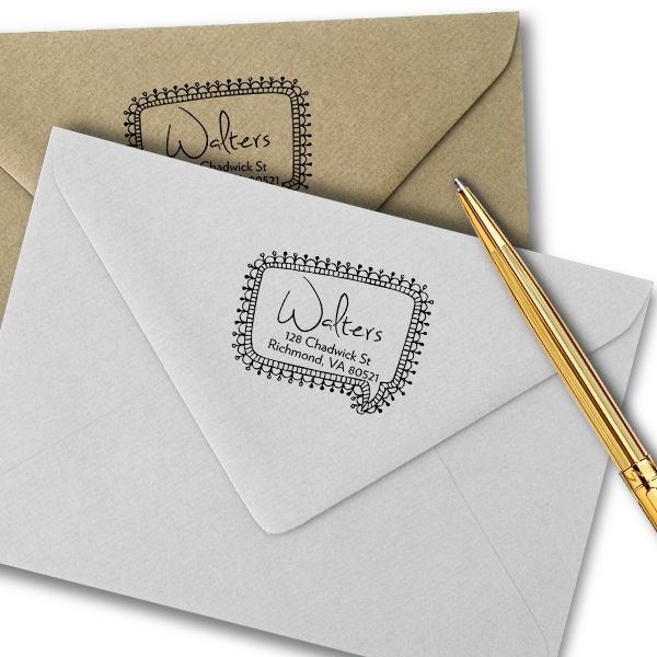 Craft Pin Quote Bubble Return Address Stamp Imprint Example