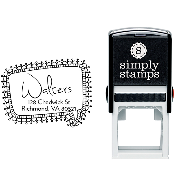 Craft Pin Quote Bubble Return Address Stamp Body and Design