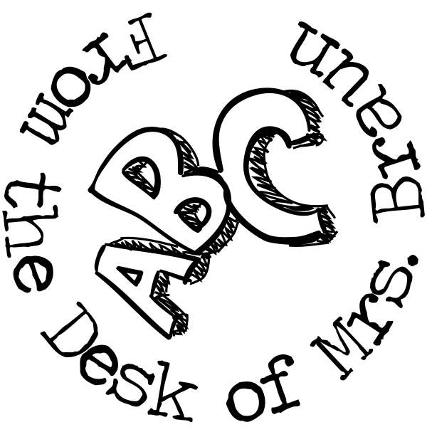 From The Desk Of - ABC Rubber Teacher Stamp