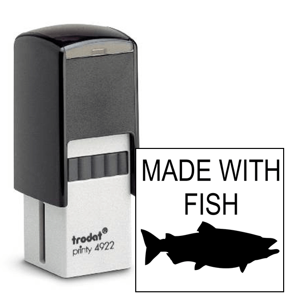 Made With Fish Rubber Stamp