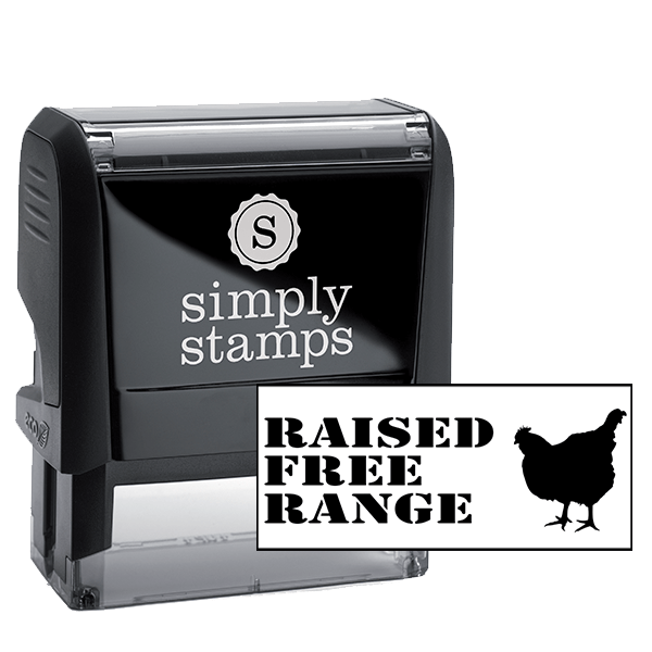 Free Range Chicken Rubber Stamp
