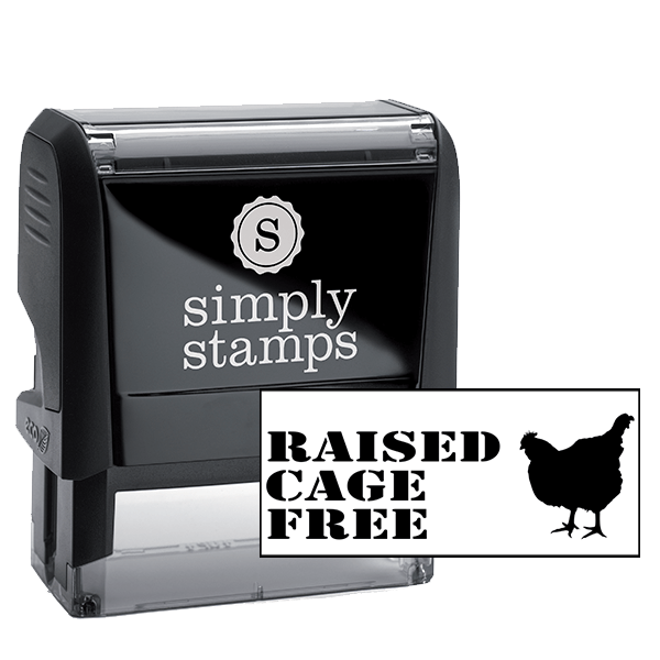 Cage Free Chicken Rubber Stamp