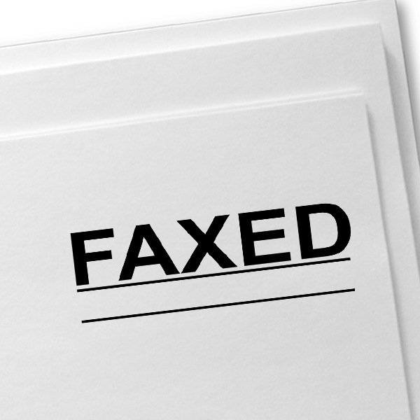 FAXED Underlined Stock Stamp Imprint