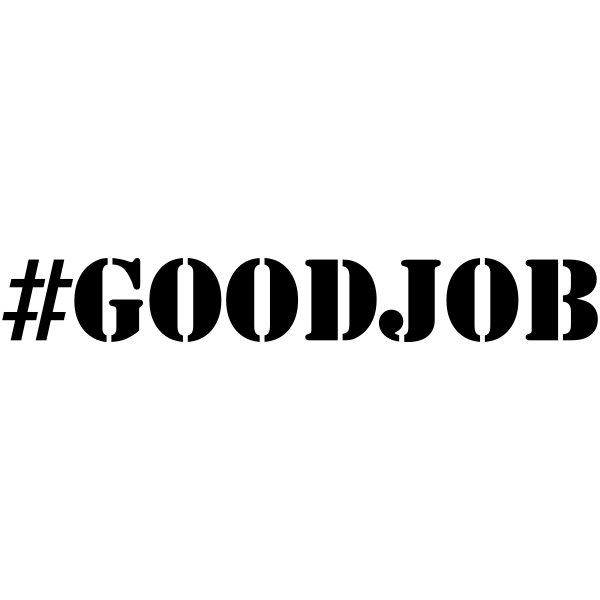 Good Job Hashtag Trendy Rubber Stamp Simply Stamps