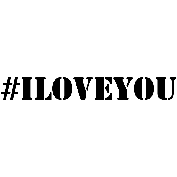 I Love You # Hashtag Rubber Stamp