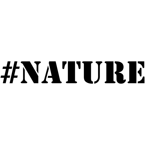 NATURE Hashtag Rubber Stamp