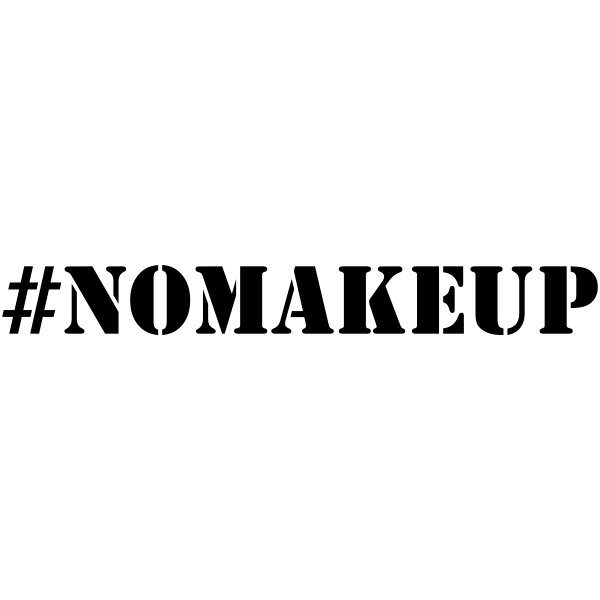 NO MAKEUP Hashtag Rubber Stamp