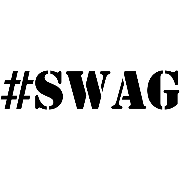 SWAG hashtag stamp