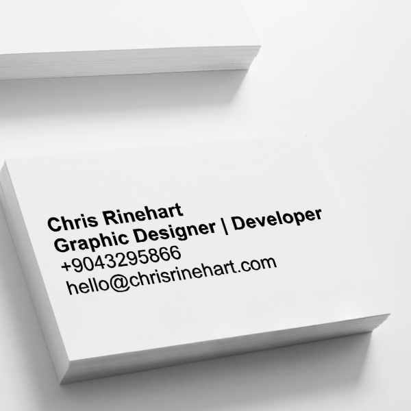 Simple Pipeline Business Card Stamp Imprint Example