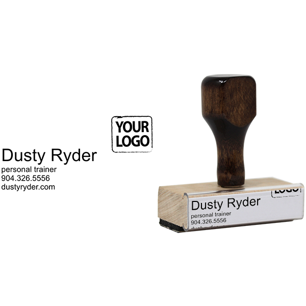Customized right logo business card stamp simply stamps colourmoves
