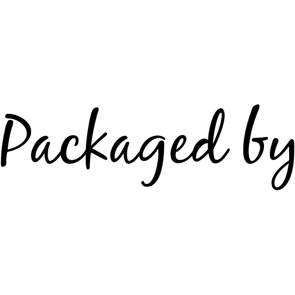 Packaged By Rubber Packaging Stamper