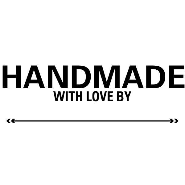 Handmade With Love Rubber Packaging Stamp