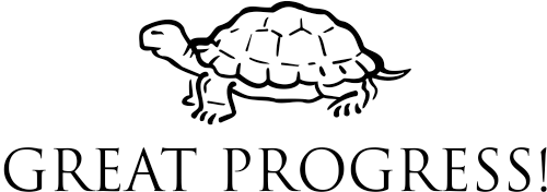Great Progress Turtle Teacher Stamp