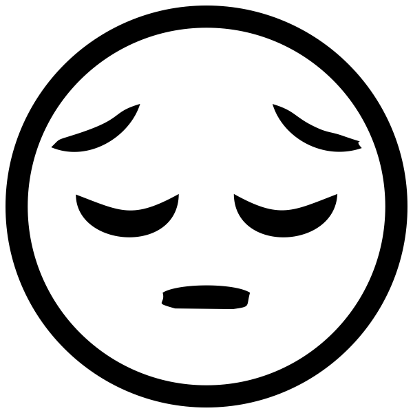 Disappointed Face Emoji Stamp