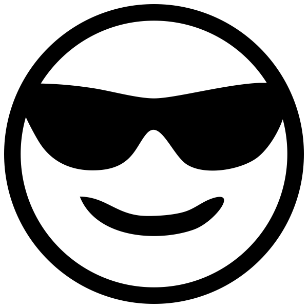 Cool Sunglasses Emoji rubber stamp