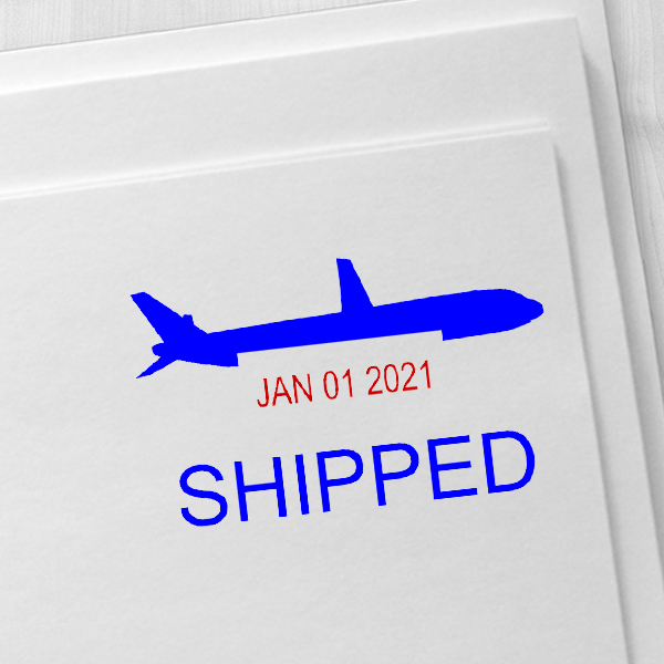 Shipped Plane Dater Stamp Imprint Example