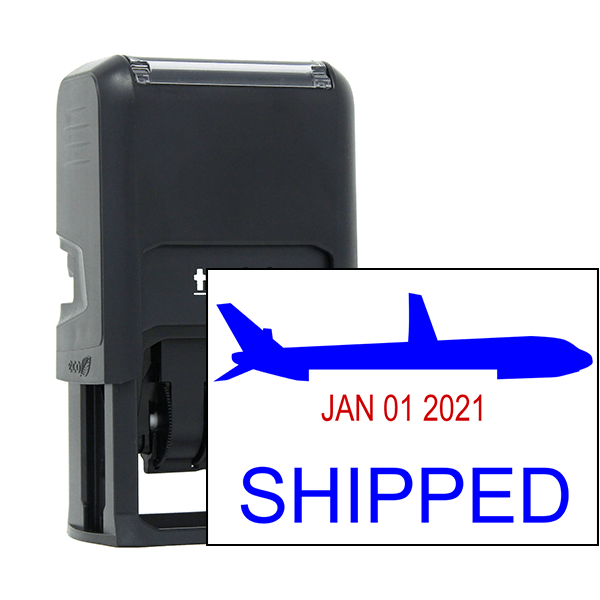 Shipped Plane Dater Stamp