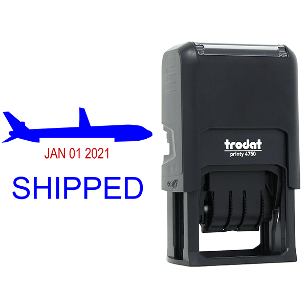 Shipped Plane Dater Stamp Body and Design