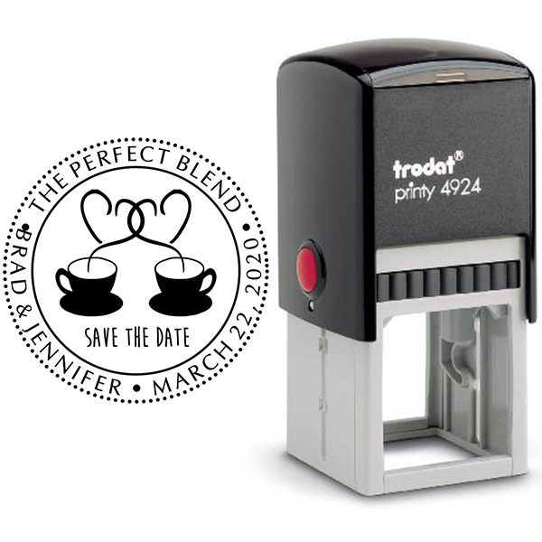 The Perfect Blend Save the Date Stamp Body and Design