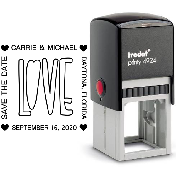 Love Save the Date Stamp Body and Design