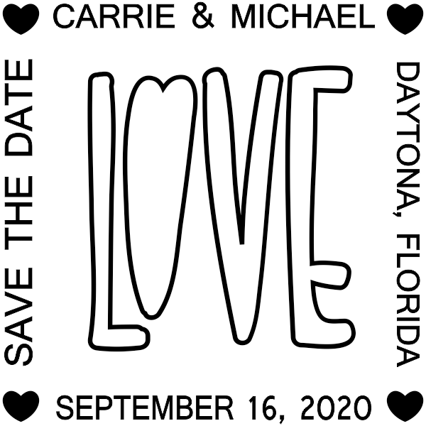 Love Save the Date Stamp