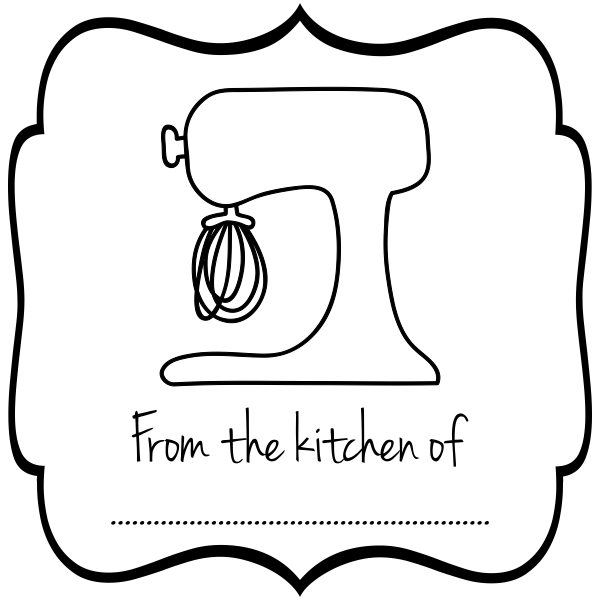 From the Kitchen Mixer rubber Stamp
