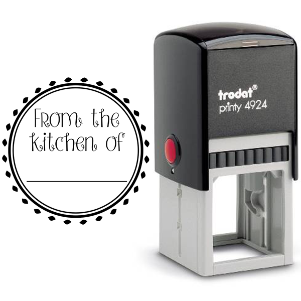 From the Kitchen Round Decorative Stamp Body and Design