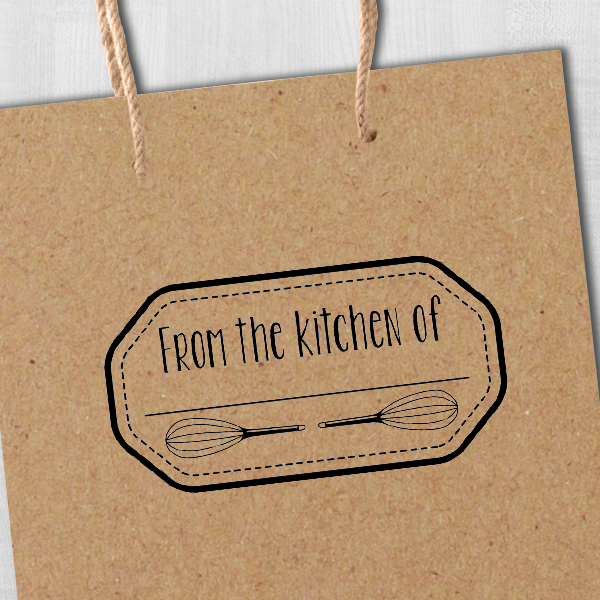 From the Kitchen Whisks Stamp Imprint Example