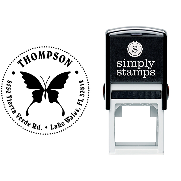 Swallowtail Butterfly Return Address Stamp Body and Design