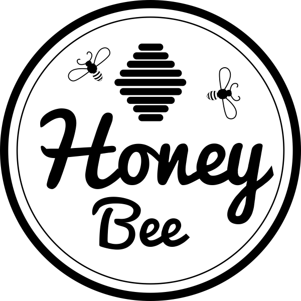 Honey Bee Double Round Rubber Stamp