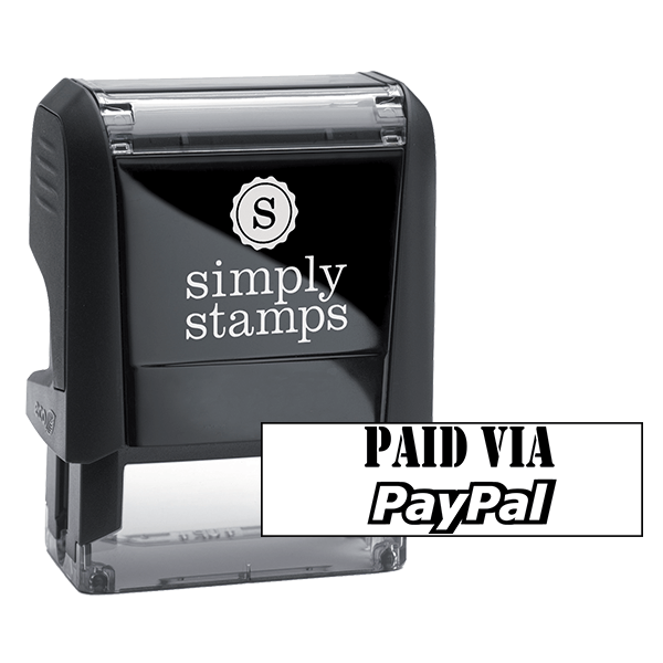 PAID BY PAYPAL Stock Stamp
