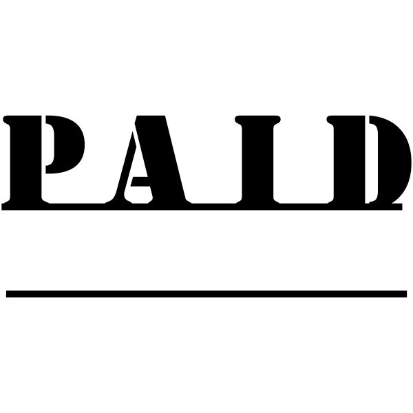 PAID Underlined Stock Stamp