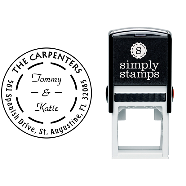 The Carpenters Double Dash Address Stamp Body and Design