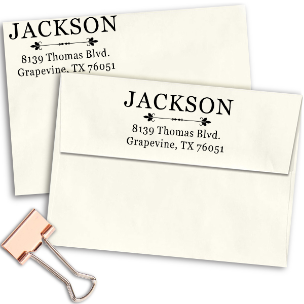 Jackson Deco Rubber Address Stamp Imprint Example
