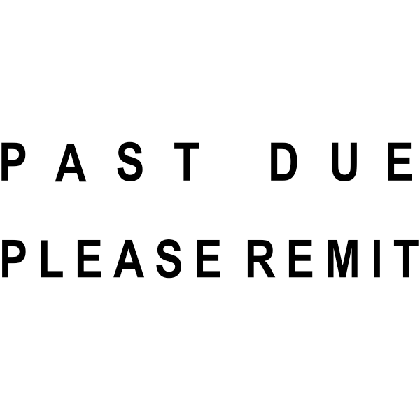 PAST DUE PLEASE REMIT Stock Stamp