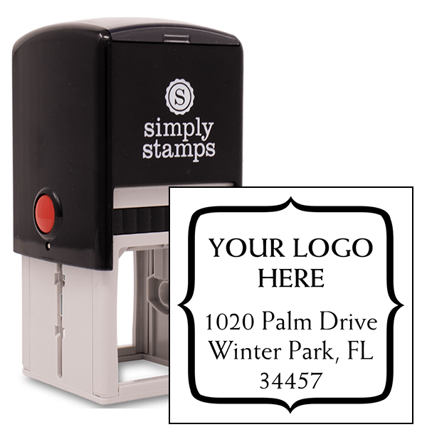 Quote Square Logo Address Stamp
