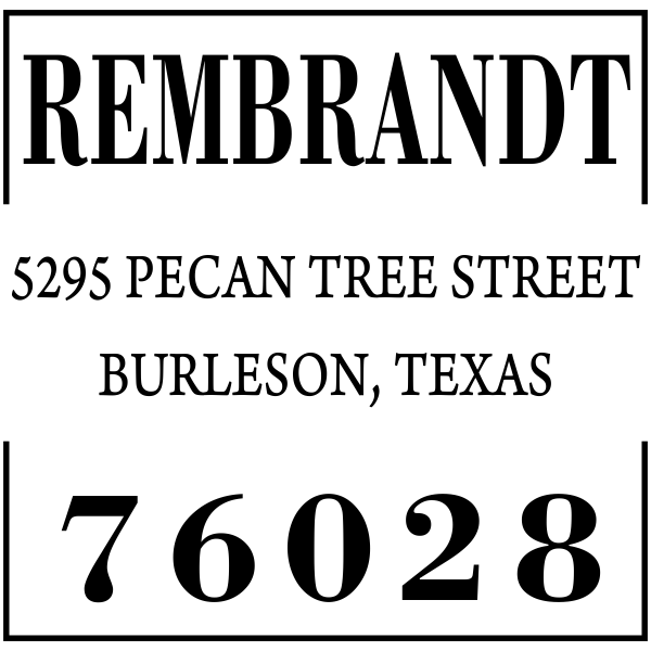 Stated Clearly Square Return Address Stamp