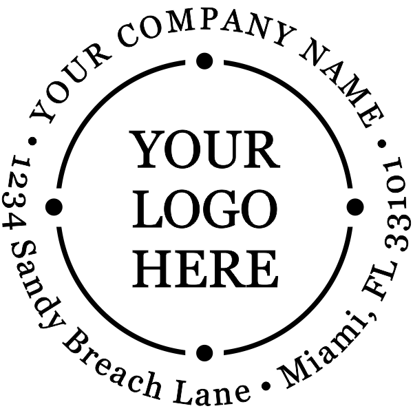 Custom Image And Text Round Logo Stamp