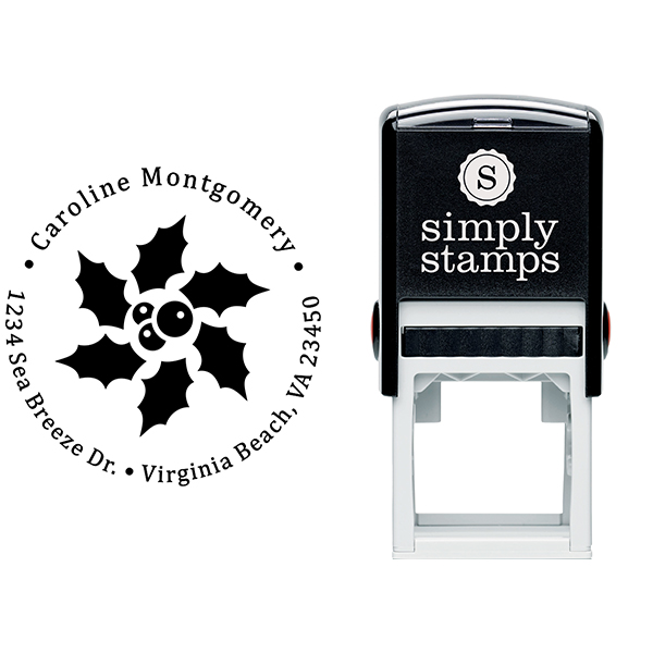 Star Holly Return Address Stamp Body and Design