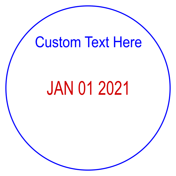 Custom Quality Top Line Round Dater Stamp